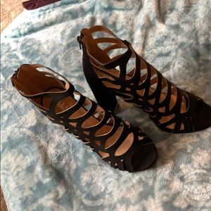 Bella Marie black strappy heels